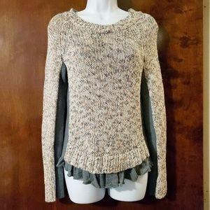 Anthropologie | Moth Apsara Knit Ruffle Sweater M